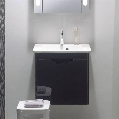 solo bathrooms bauhaus solo graphite 500mm vanity unit and basin