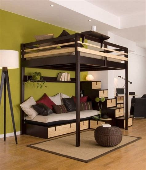 space saving size loft beds for adults loft bed with desk chair with flowers wallpaper dream 17 best images about space saving bedroom on pinterest