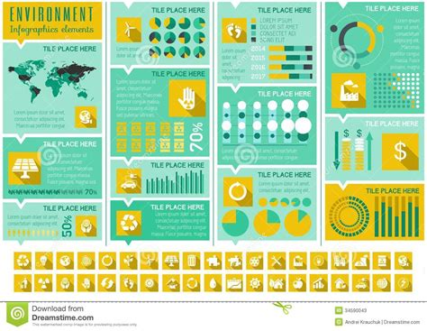 ecology infographic template stock photos image 34590043