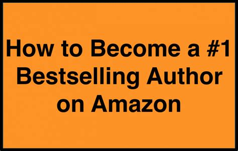 How To Be A by How To Become A 1 Bestselling Author On With Step