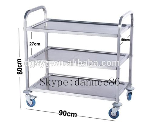 Dining Room Serving Carts by Brand New Utility Trolley 3 Shelf Stainless Steel Kitchen