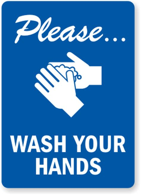 Washing Your Hands Lab Safety Symbol