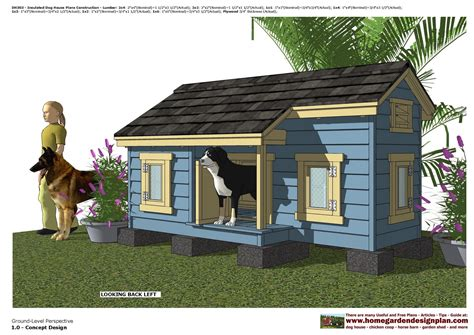 insulated dog houses large dogs dh303 insulated dog house plans dog house design how
