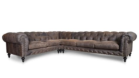leather chesterfield sectional cococohome soho chesterfield square quot l quot leather
