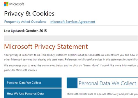 microsoft privacy statement privacymicrosoftcom microsoft updates privacy statement addressing concerns