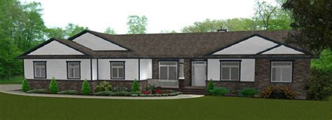 Ranch Style Bungalow House Plan Ranch Homes with Dormers