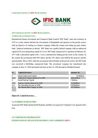 corporate review  ific bank limited  md papon issuu