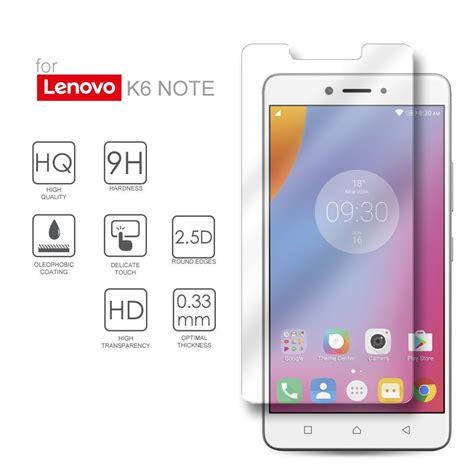 Tempered Glass Lenovo K6 Note Screen Glass lenovo k6 note tempered glass screen protector guard anti scratch 2 5d edges hd anti