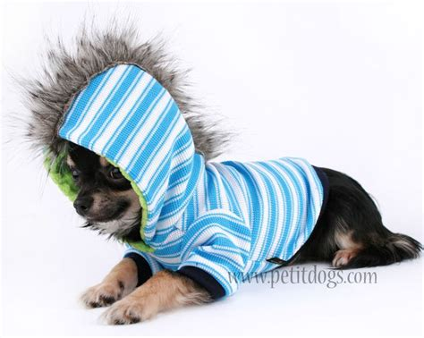 puppy clothes boy boy clothes xs mohawk blue stripe hoodie chihuahua clothes and chihuahuas