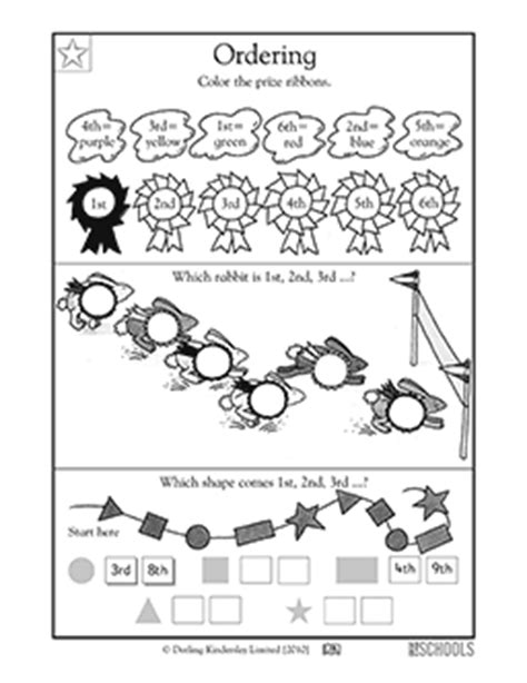 Ordinal Bike To Work 04 free printable worksheets word lists and activities
