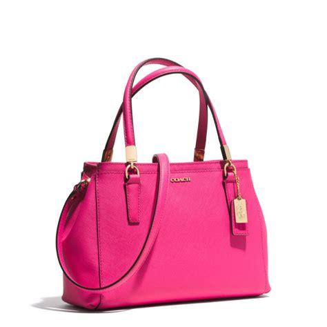 Coach Mini coach mini christie carryall in saffiano leather