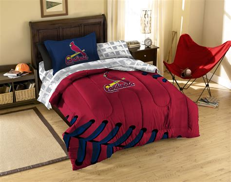 baseball bed new 5pc st louis cardinals baseball twin bed in bag mlb
