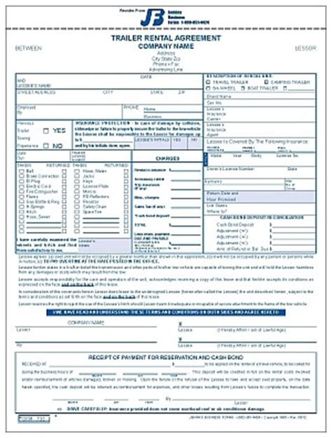 735 Trailer Rental Agreement Trailer Lease Agreement Template Free