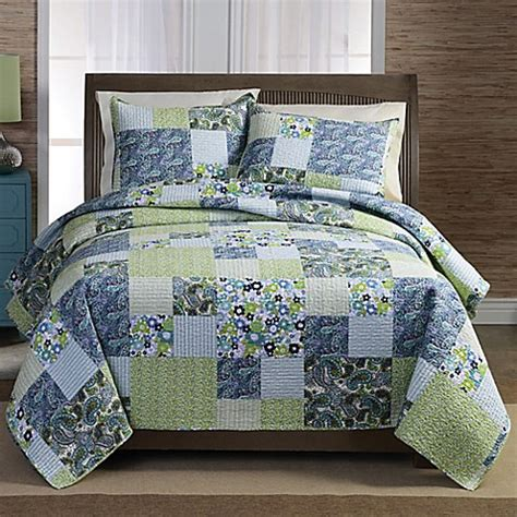 bed bath beyond quilts haley patchwork quilt set bed bath beyond