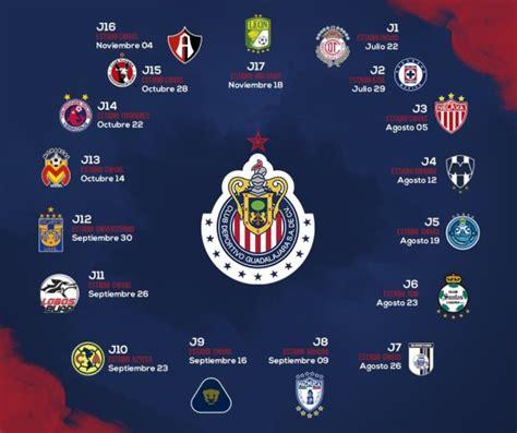 Calendario De Juegos Liga Mx Chivas Calendario De Las Chivas Para El Torneo De Apertura 2017