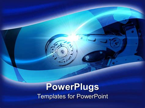 Drive Powerpoint Templates powerpoint template a drive placed inside a machine