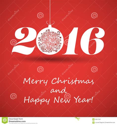 merry christmas and happy new year greeting card creative