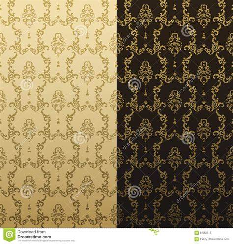 gold vintage design elements vector vector seamless gold pattern with art ornament vintage