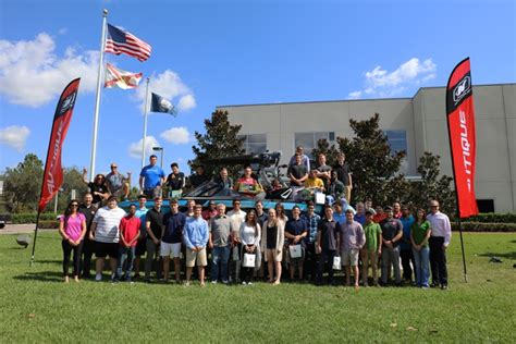 malibu boats manufacturing plant florida students receive tour of nautique plant trade
