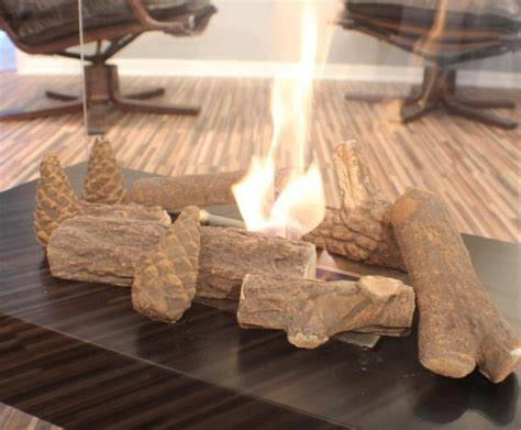 Decorative Wood Logs For Fireplace by 9 Ceramic Decorative Logs For Bio Ethanol Burners And