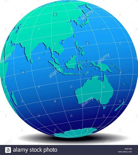 australia globe map vector map icon of the world in globe form australia