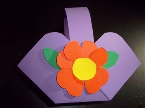 Crafts Made Out Of Construction Paper - how to make a flower or basket out of construction