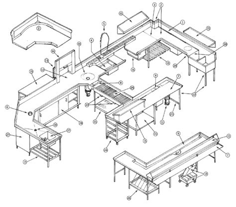 kitchen layout theory commercial kitchen designs home design and decor reviews