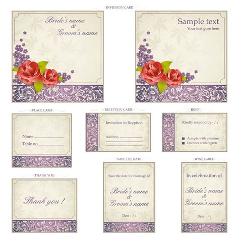 Wedding Invitation Label Template by Wedding Vector Graphics Page 5
