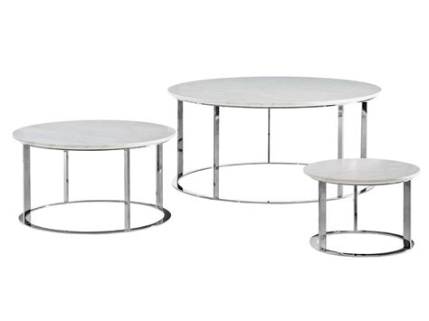 Round Marble Coffee Table Mera Mera Collection By B B B B Italia Coffee Table