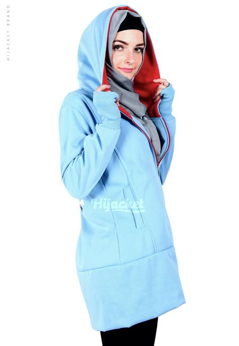 Jaket Hijaber Hijacket Urbanashion Hj Ub Sky Blue Original 4 jaket hijaber japan sky blue hijacket jaket muslimah distro beda