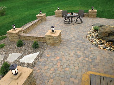 design ideas for patios brick paver patio idea photo gallery enhance companies
