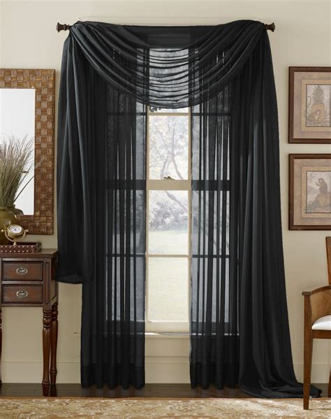 black sheer curtain 12 best images about ways to hang a scarf valance on