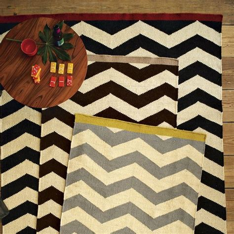 Chevron Kitchen Rugs by Zigzag Rug Rugs By West Elm
