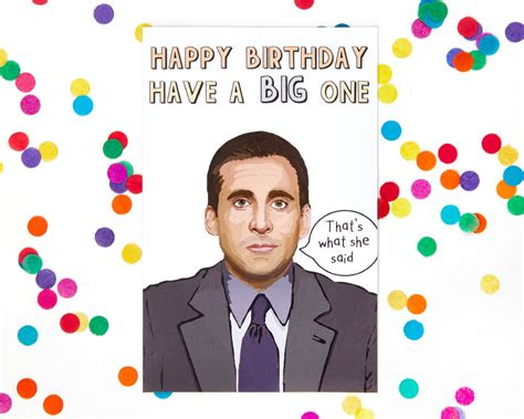 the office cards michael the office tv show birthday card dwight