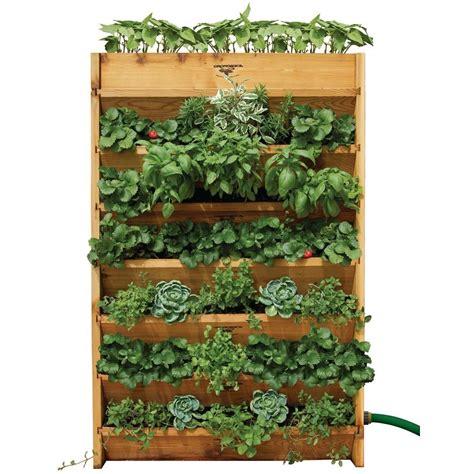 Vertical Garden Diy Home Depot - gronomics 32 in w x 45 in h x 9 in d vertical garden bed vg 32 45 the home depot
