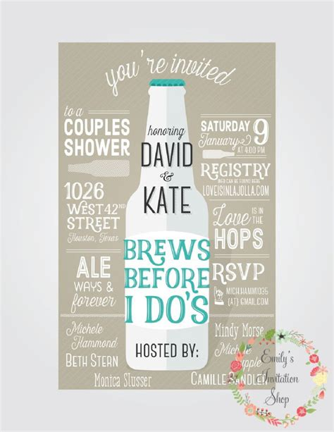 Showers For Couples by Brews Before I Do S Couples Shower Invitation