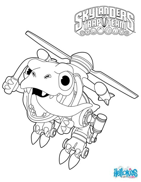 Chopper Coloring Pages Hellokids Com Skylanders Trap Team Coloring Pages