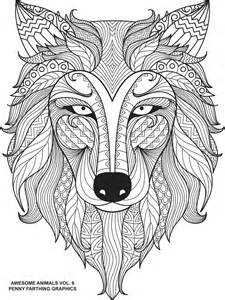 wolf coloring pages for adults 17 best images about zentangle on coloring