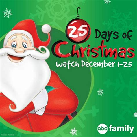 abc family s 2015 quot 25 days of christmas quot schedule