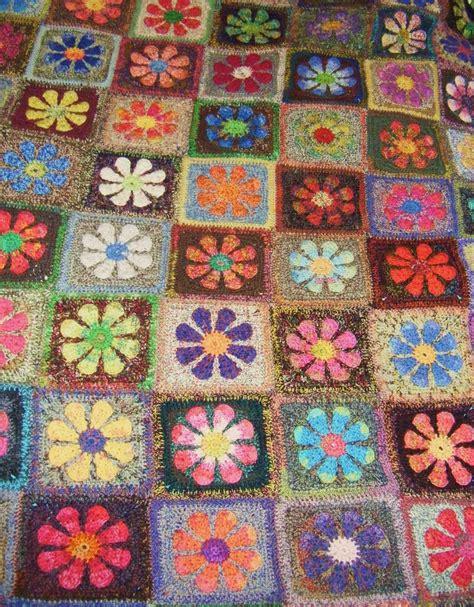 flower pattern afghan ravelry molli s daisy square afghan crochet flower