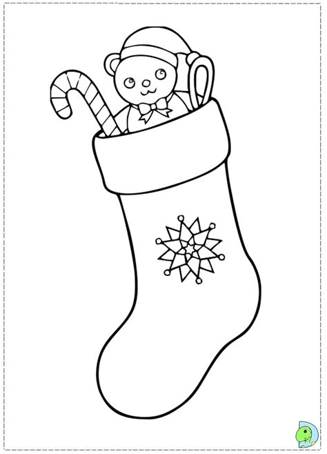 christmas stocking coloring page template coloring christmas stocking template coloring pages