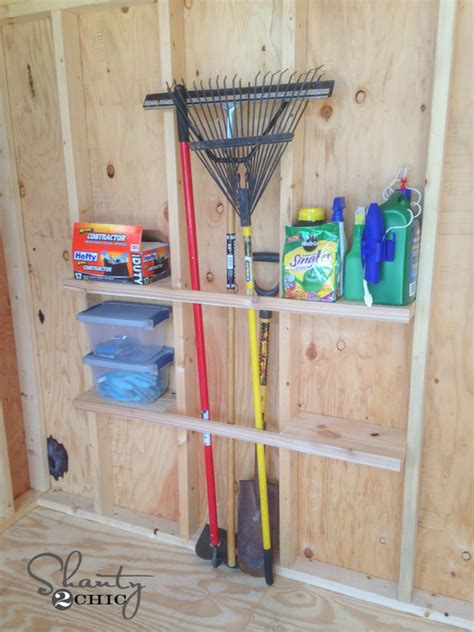 Diy Shed Organization by Shed Organization Idea Shanty 2 Chic