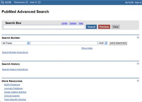 Pages Search Pubmed Advanced Search Page Modified Nlm Technical Bulletin 2010 May Jun