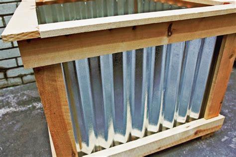 Tin Planter Box by Awesome Cedar And Tin Planter Box Thinking Something Like