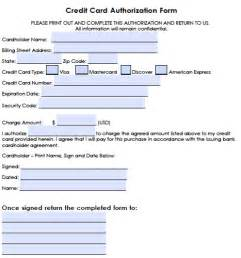 Hotel Credit Card Authorization Form Template by Generic Credit Card Authorization Forms
