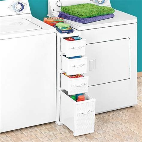 Drawers Washer And Dryer wicker laundry organizer between washer dryer drawers