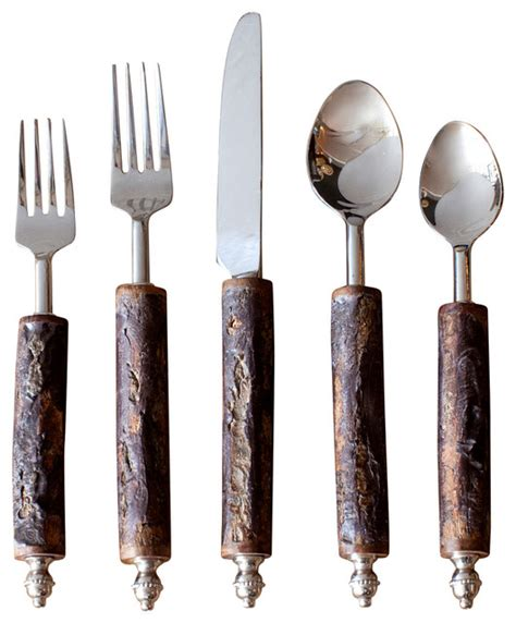 modern flatware sets bark flatware set contemporary flatware and silverware