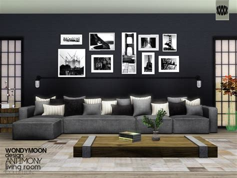Sims 3 Living Room Sets Wondymoon S Antimony Living