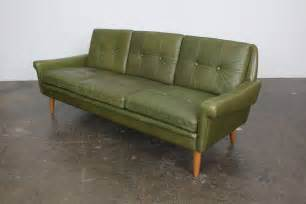 Green Leather Sectional Sofa Mid Century Modern Green Leather Sofa By Skippers Mobler At 1stdibs