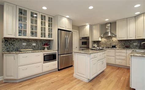 Distressed Kitchen Cabinet modern recessed lighting with oak floor for classic
